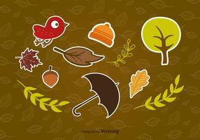 Etiquetas engomadas del otoño
