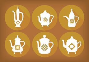Árabe café olla vectores