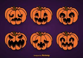 Smiling Pumpkins set
