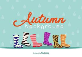 Autumnal footwear background vector