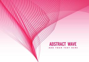 Pink wave flowing vector