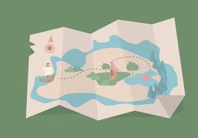 Vector del mapa del tesoro