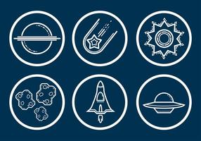 Space Icon Vector Set