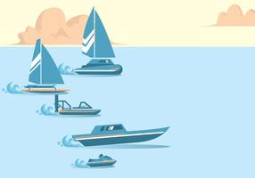 Water Racing Vector