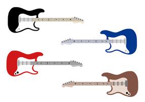 Vector de guitarra elétrica grátis