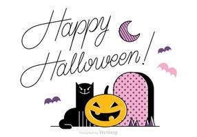 Free Happy Halloween Vector Background