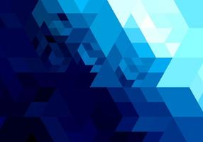 Abstract bright blue geometric shape vector