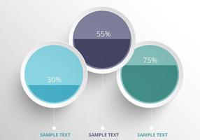 Rengör färgfulla infografiska vektorcirklar