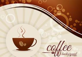 Kaffebakgrund med bönor och koppvektor