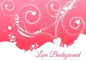 Floral estilo de amor colorido vector