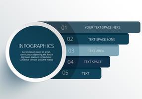 Elementos infográficos del círculo del vector moderno