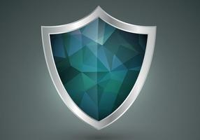 Polygonal Shield Shape Vector