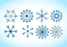Snöflinga vektorer