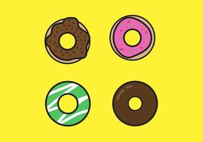 Dulce Donut Vectores