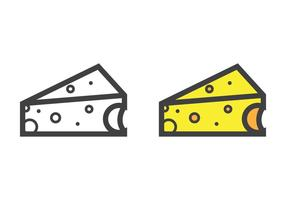 Vetor de queijo triangular