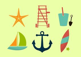 Iconos de la playa