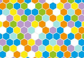 Gratis Retro Geometrisk Hexagon Vector