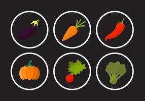 Collection of Vegetable Vectors