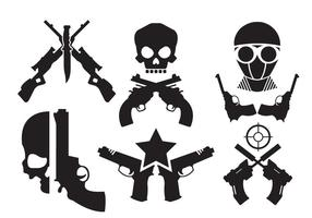 Crossed Gun Vectors