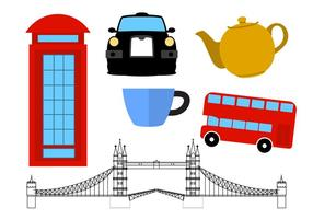 United Kingdom Icons vector
