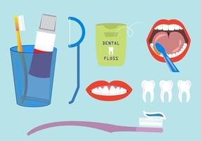Vectores de lavado de dientes
