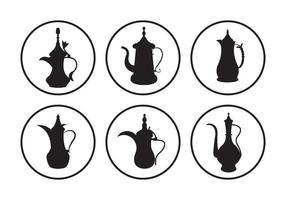 Arabic Coffee Pot Vectors