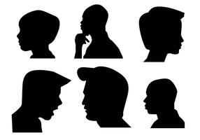 Boys Side Face silhouette vector