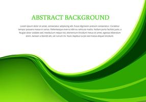 Green wave background design vector