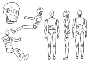 Crash Dummy Outlines