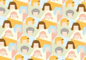 Girls pattern background vector