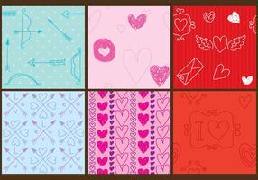 Vecteurs de motif d'amour