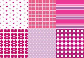Rosa mönstervektorer