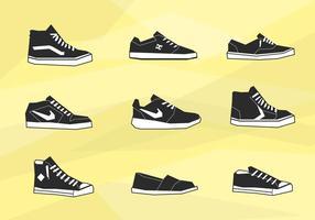 Mens schoenen iconen