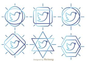 Twitter bird outline vektorer