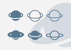 Saturn Vector Icon Pack Vol. 1