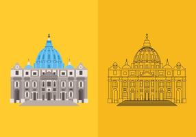 St Peters Basilica Vectors