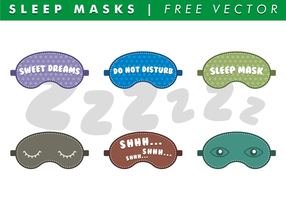 Sleep Maskers Gratis Vector