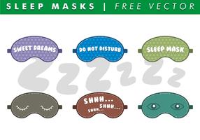 Máscaras de sueño vectoriales gratis