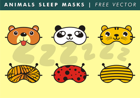 Animaux Sleep Masks Free Vector