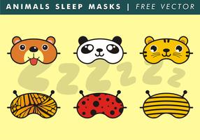 Animales dormir máscaras vectoriales gratis