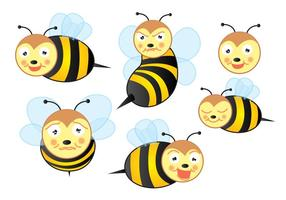 Cute Bee Vectors! vector