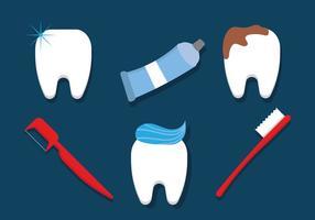Cepillado, dientes, vectores