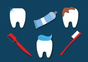 Borstelen Tandenvectoren