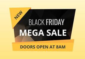 Vector de venta de viernes negro