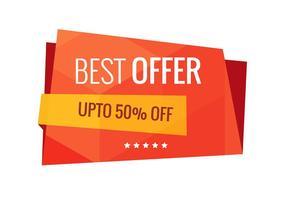 Melhor oferta venda banner vector