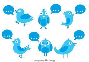 Pájaro de Twitter del vector con cita