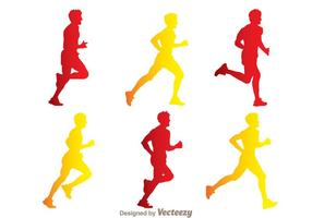 Man Running Silhouette Vectors