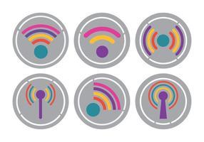 Vetores brilhantes do logotipo de Wifi
