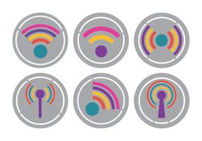 Ljusa wifi-logosvektorer
