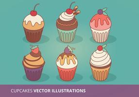 Colecção de vetores Cupcakes